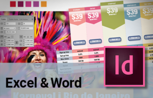 indesign excel og word